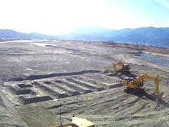 ICT建機での掘削作業